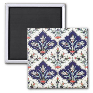 Floral Pattern Turkish Tile Magnet