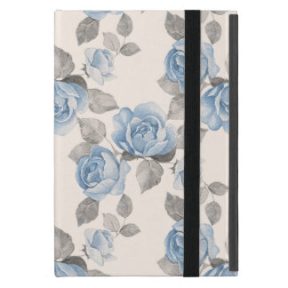 Floral pattern. Vintage blue roses iPad Mini Covers
