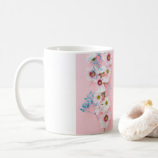 Floral pattern White & Pink Coffee Cup