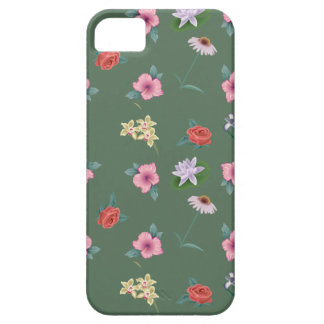 Floral Pattern Winter Green iPhone 5 Covers