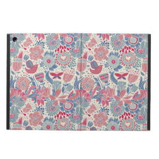Floral pattern with bird and butterfly cover for iPad air