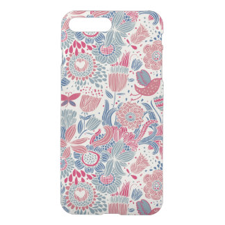 Floral pattern with bird and butterfly iPhone 8 plus/7 plus case