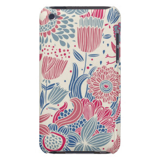 Floral pattern with bird and butterfly iPod Case-Mate cases