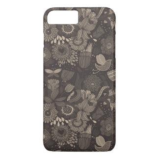 Floral pattern with cartoon birds 2 iPhone 8 plus/7 plus case