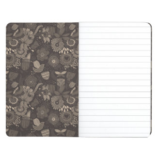 Floral pattern with cartoon birds 2 journal