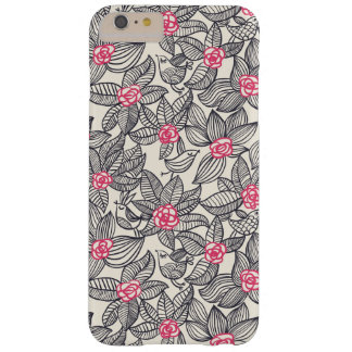 Floral pattern with cartoon birds barely there iPhone 6 plus case