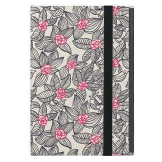 Floral pattern with cartoon birds iPad mini case