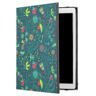 "Floral pattern with cartoon birds iPad pro 12.9"" case"