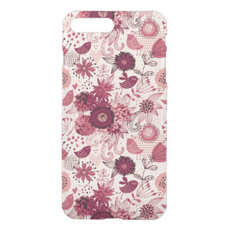 Floral pattern with cartoon birds iPhone 8 plus/7 plus case