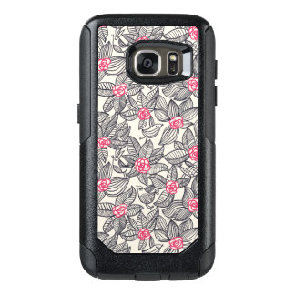 Floral pattern with cartoon birds OtterBox samsung galaxy s7 case