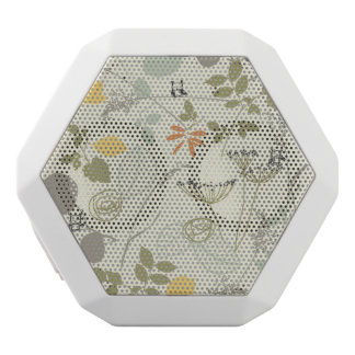 Floral Pattern with cute birds White Boombot Rex Bluetooth Speaker