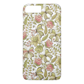 floral pattern with flowers and butterflies iPhone 8 plus/7 plus case