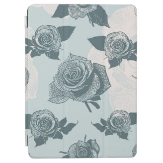 Floral pattern with rose iPad air cover