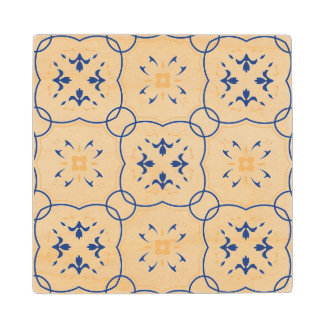 Floral Pattern Wood Coaster