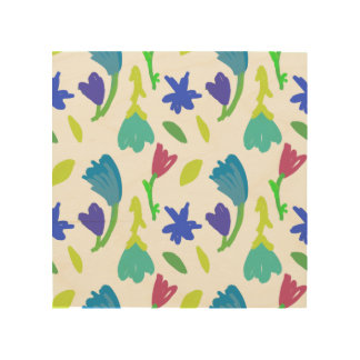 Floral Pattern Wood Wall Decor