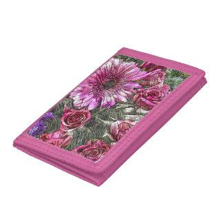 Floral patterned wallet