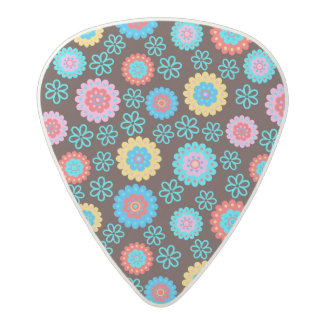 Floral Patterns Acetal Guitar Pick