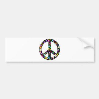 Floral Peace Symbol Bumper Sticker