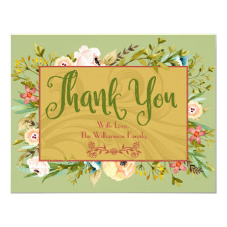 Floral Personalised Thank You Card