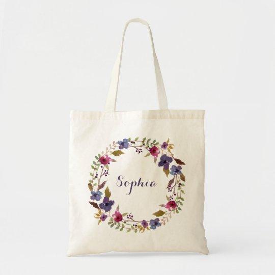 Floral Personalised Tote Bag