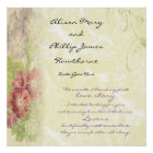 Floral Personalized Love Story Poster