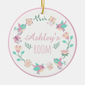 Floral Personalized Ornament For Girl's Room
