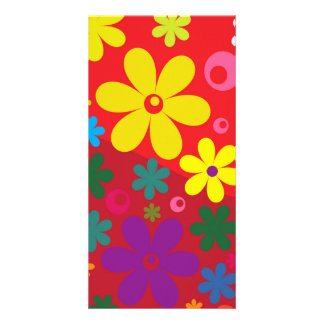Floral Photo Greeting Card