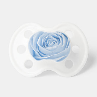 Floral Photo Dainty Baby Blue Rose Baby Pacifiers