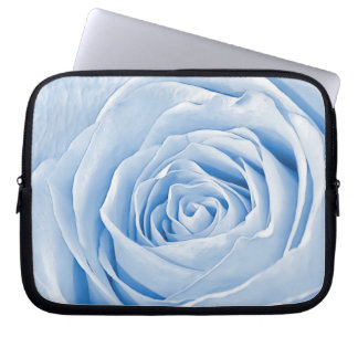 Floral Photo Dainty Light Blue Rose Computer Sleeve