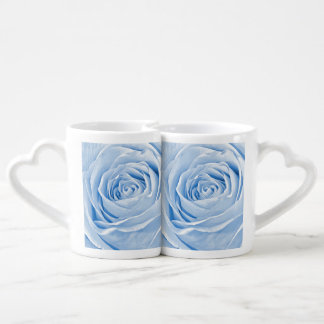 Floral Photo Dainty Light Blue Rose Lovers Mugs