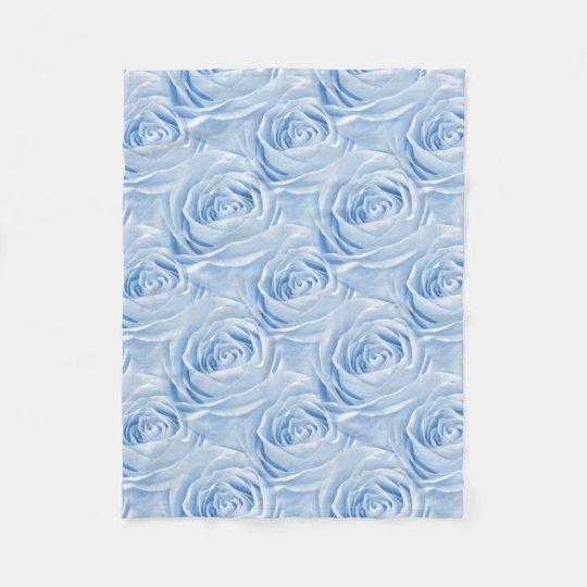 Floral Photo Light Blue Rose Wallpaper Pattern Fleece