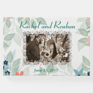 Floral Photo Wedding Guest Book