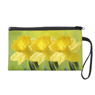 Floral Photography:  Yellow Spring Daffodil Pic Wristlet Purses