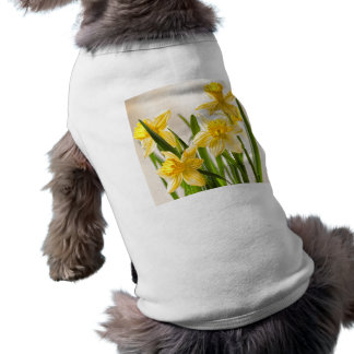 Floral Photography:  Yellow Spring Daffodils Sleeveless Dog Shirt