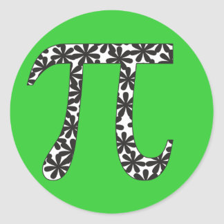 Floral Pi Round Sticker