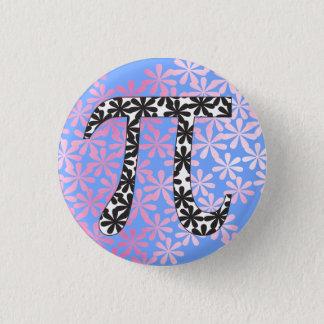 Floral Pi Symbol 3 Cm Round Badge