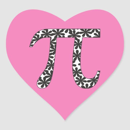 Floral Pi Symbol Stickers Pink Math Pi Day Gift Zazzle
