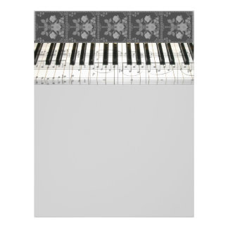 Floral Piano Keyboard 21.5 Cm X 28 Cm Flyer
