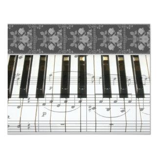 Floral Piano Keyboard Card