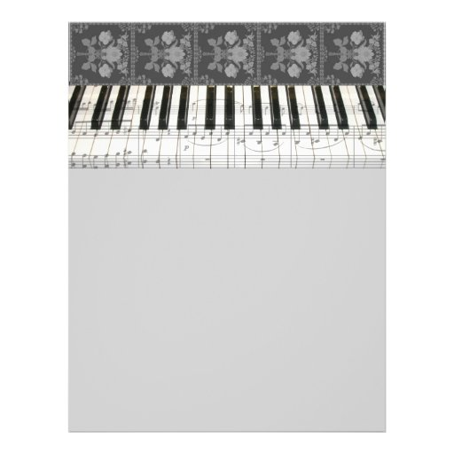 Floral Piano Keyboard Flyer Design