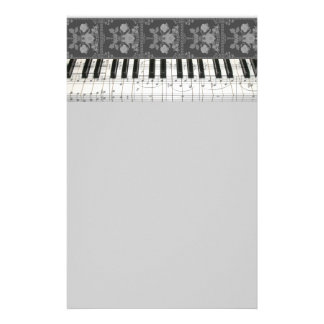 Floral Piano Keyboard Stationery