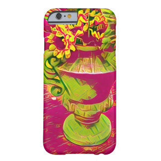 Floral pink and green flowers iPhone case