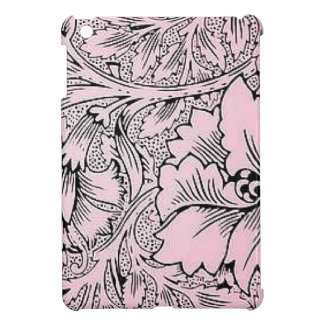 Floral Pink & Black Contemporary Line Design Case For The iPad Mini