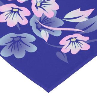 Floral Pink Blue Short Table Runner
