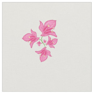 Floral pink Bougainvillea Fabric