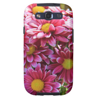 Floral, Pink Chrysanthemums, yellow center Galaxy SIII Case