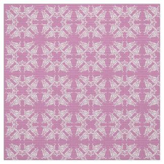 Floral pink damask patten fabric