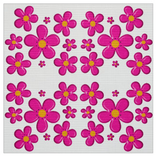 Floral pink element fabric