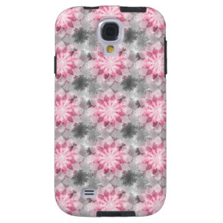 Floral Pink-gray Pattern Galaxy S4 Case