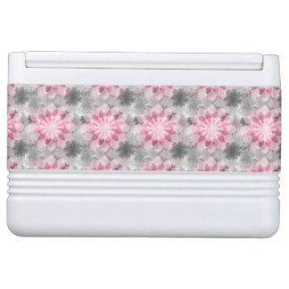 Floral Pink-gray Pattern Igloo Cool Box